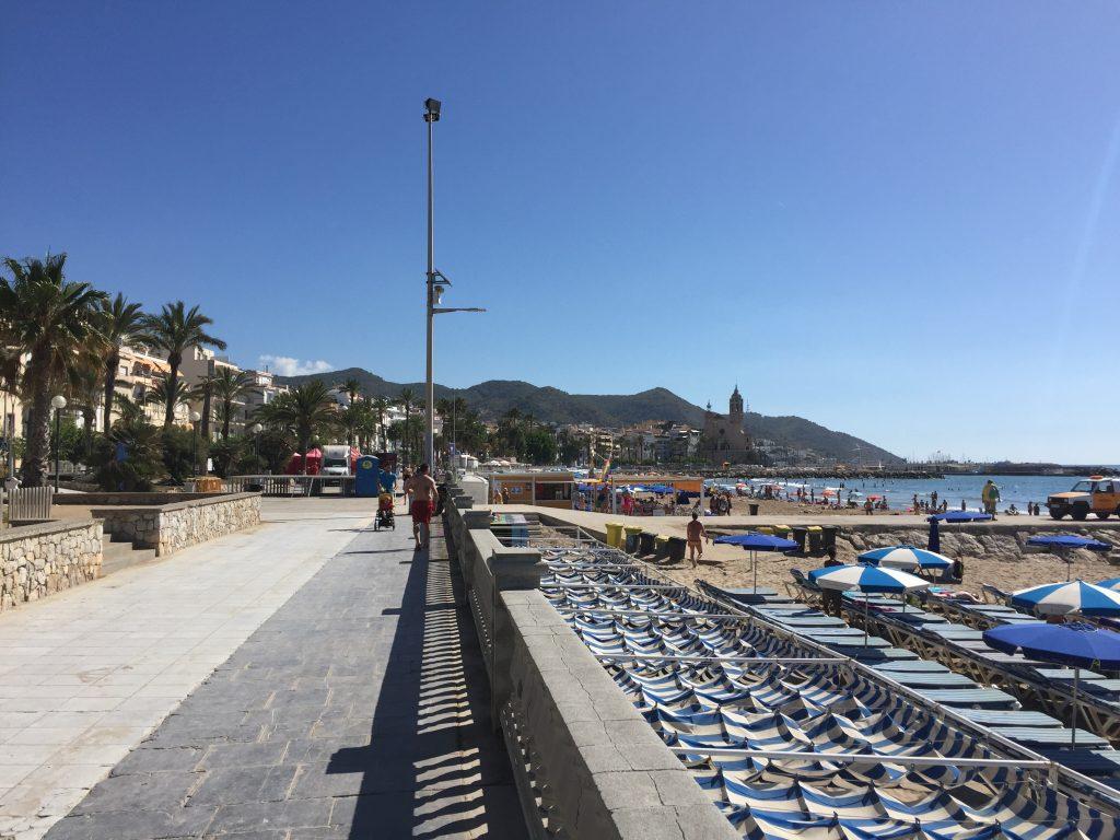 Strandpromenade von Sitges